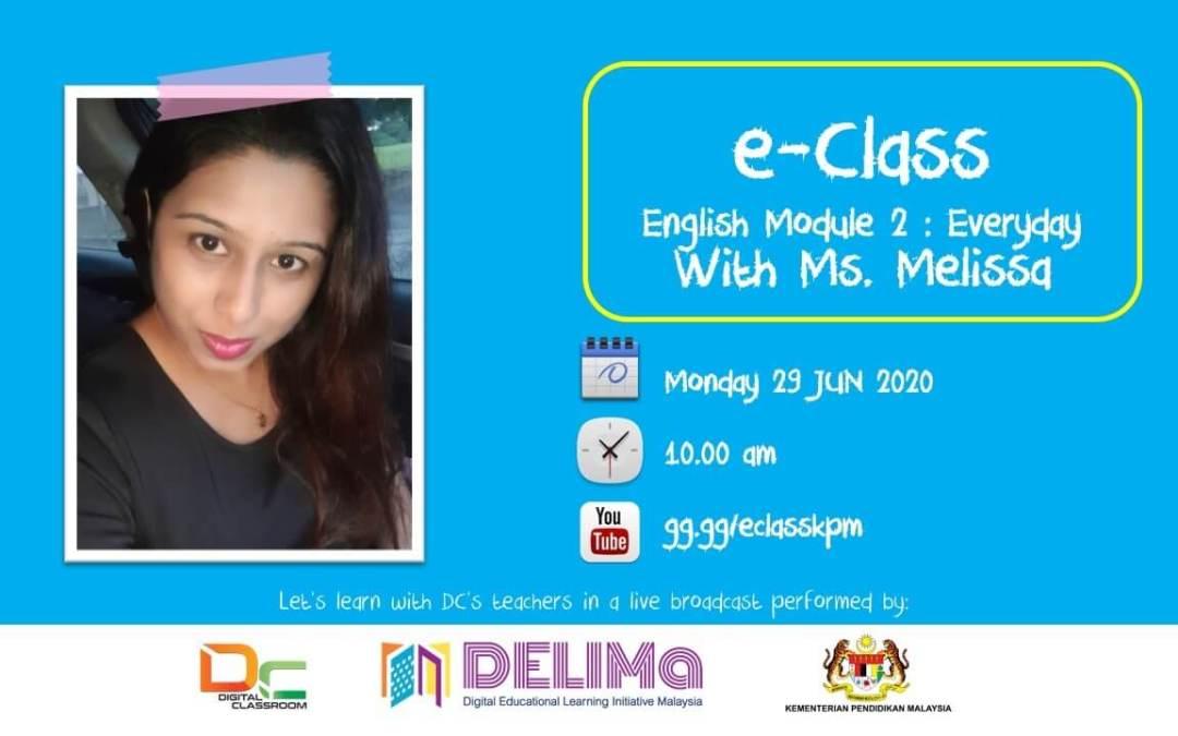 English Y3 bersama-sama Ms. Melisa