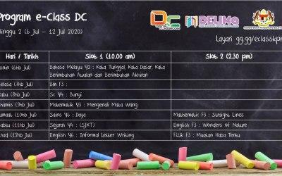 Jadual eClass Minggu ke-2