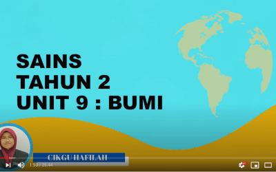 Sains Tahun 2 Unit 9 : Bumi