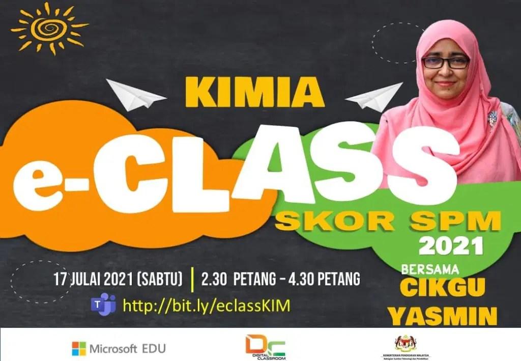 Rakaman Youtube : Kimia SPM bersama-sama Cikgu Yasmin Besok Petang