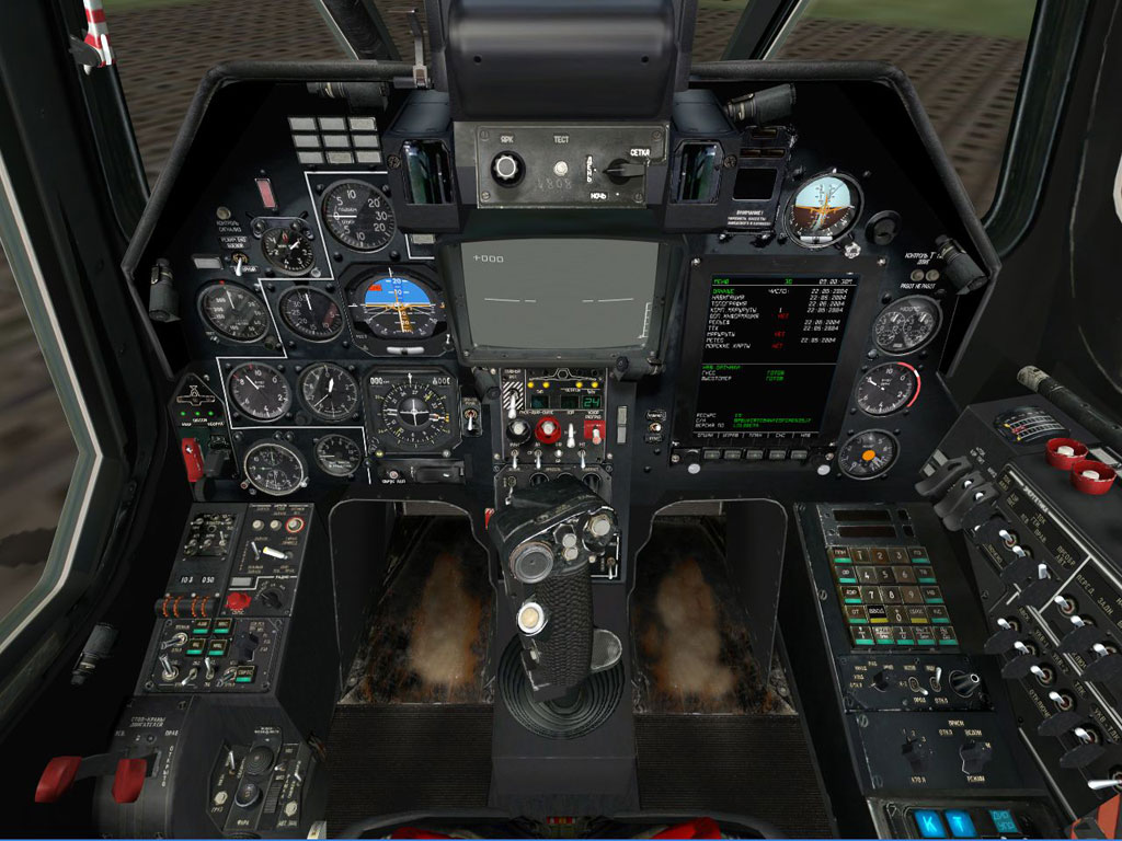 Ka-50 cockpit overview