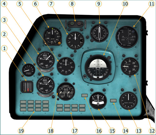 Left Instrument Panel (Pilot-Commander)