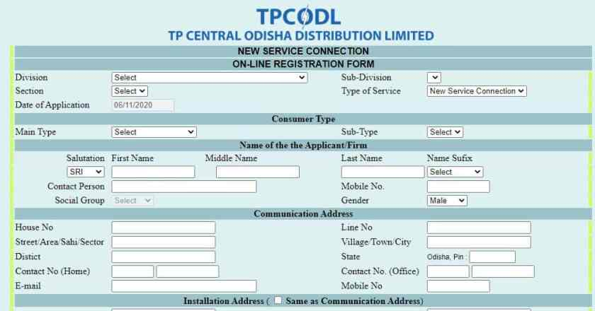 tpcodel-electric-nw-conection-registration-form
