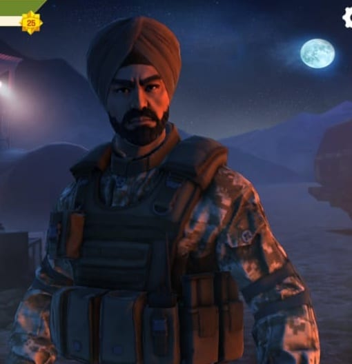 Faug Game Character Indian Army