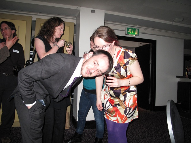 What's this all about? There is someone kissing Darragh Doyle's head! I know things are a bit weird at the Irish Blog Awards but this is definitly mad!