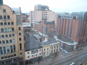 View from 9th floor window of the europa