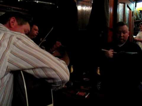 Session in McMahon's pub in Dundalk.