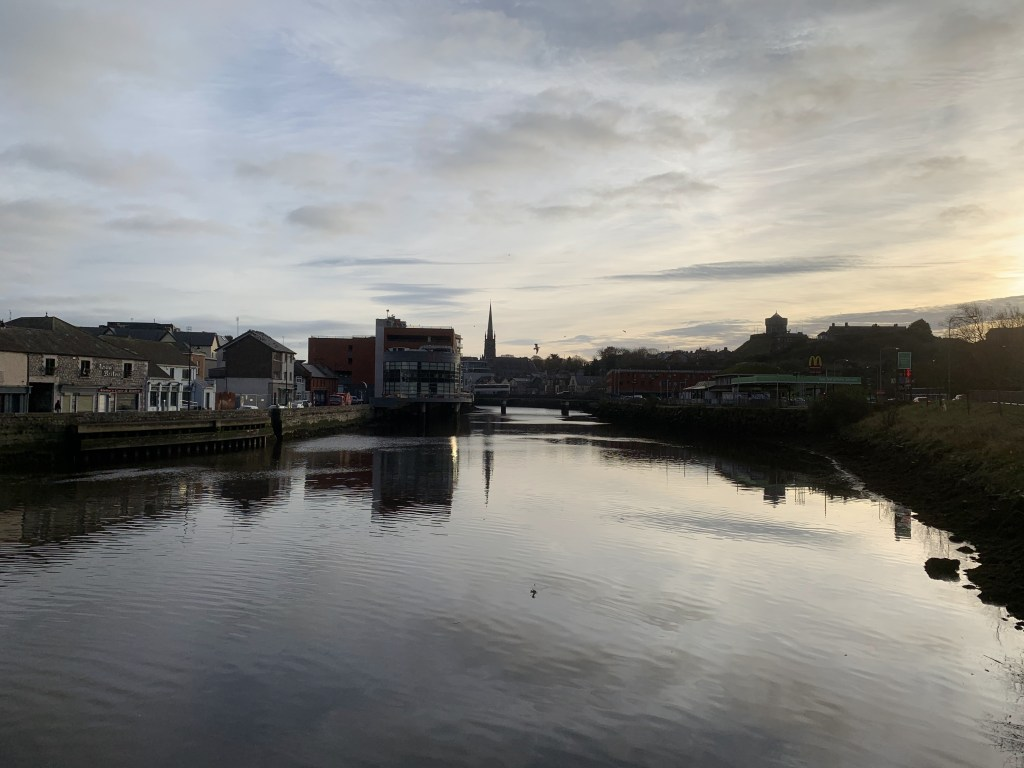 Taken from Dominique's bridge. Looking Domican church is reflected in the water.