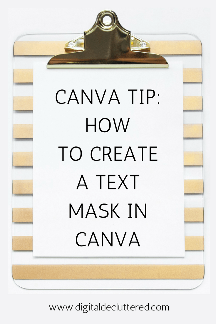 How to create a text mask in Canva
