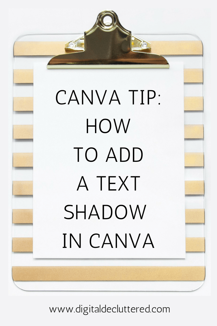 How to add a text shadow in Canva