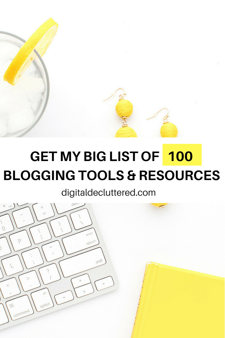 This game changing list of tools and resources will take your online marketing and blogging from blah to brilliant. The list covers everything you need for websites, social media, content creation, podcasting and productivity. #startablog #newblogger #socialmediatips #bloggingtips #bloggingtools #bloggingresources