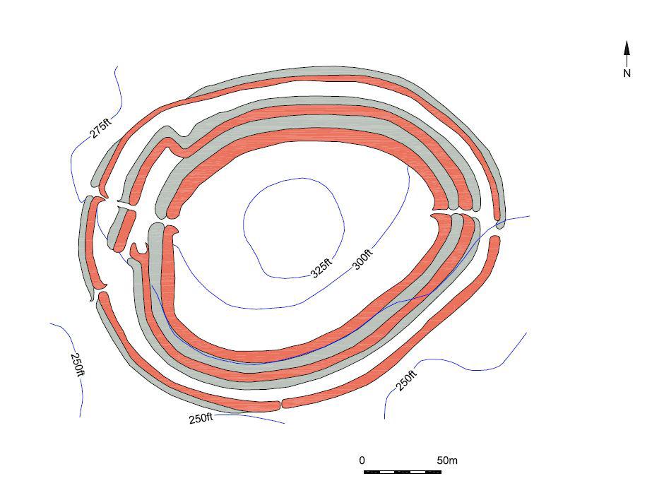 02 - Badbury Rings hillfort, plan.
