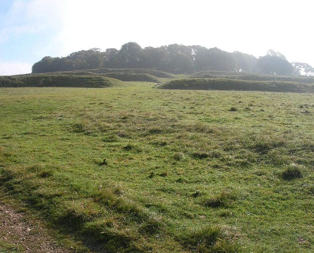03 - Badbury Rings hillfort, entrance.