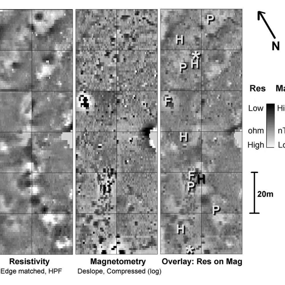 07 - Badbury Rings hillfort geophysics comparison
