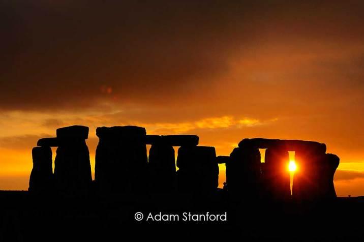 Stonehenge - Orange clouds. © Adam Stanford.