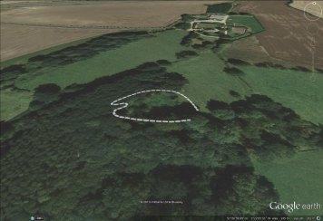 Borough Hill Camp outline.