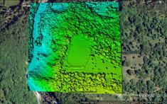 Burrington Camp LiDAR. © Mendip AONB & English Heritage. Reproduced with kind permission.