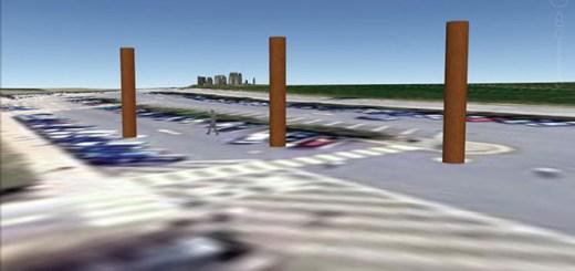 Stonehenge car park timbers.