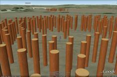 'Woodhenge' timber circle, interior.