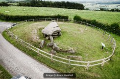 Aerial shot of Arthur's Stone Long Barrow. © Aerial-Cam.