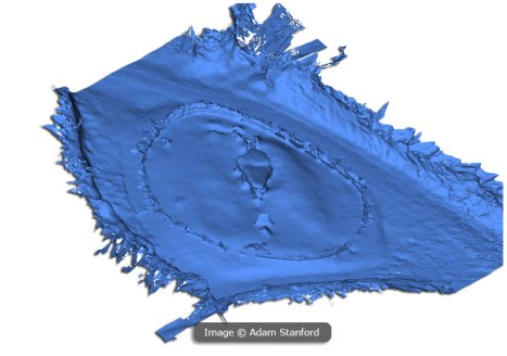 3D model rendered from photogrammetry data. © Aerial-Cam.