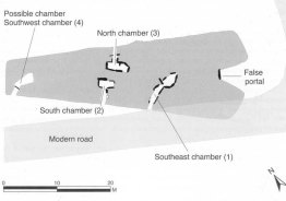 Gwernvale Long Barrow plan. Image by Vanessa Constant.