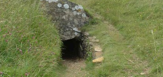 Hetty Pegler's Tump entrance. Image by Martin Evans.