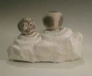 Chris Carter's flint sculptures.