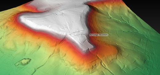 Burledge Hillfort Digital Terrain Model (generated by planlauf/TERRAIN)