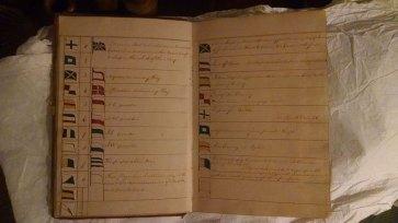 Capt. John Conn Day Signal Book. Example-01.