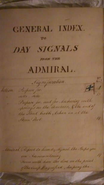 Capt. John Conn Day Signal Book index single page.