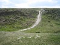 Mount Caburn Hillfort, Chalk Path.