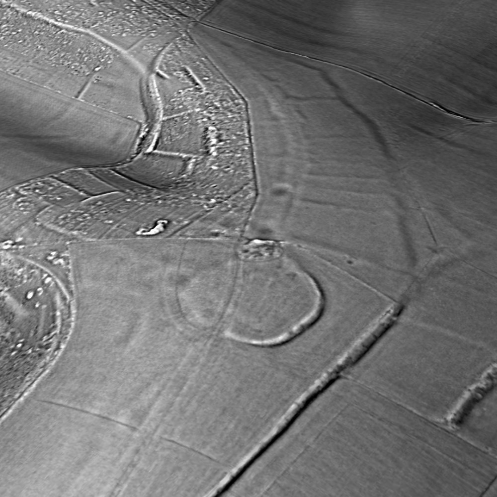 Thundersbarrow Hillfort relief map with details of field systems generated by planlauf/TERRAIN