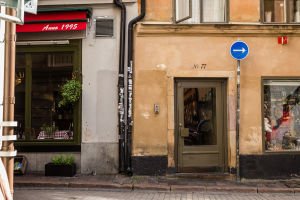 Storefronts in Gamla Stan