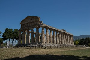 One of the largest buildings in the Velia, Italy ruins.