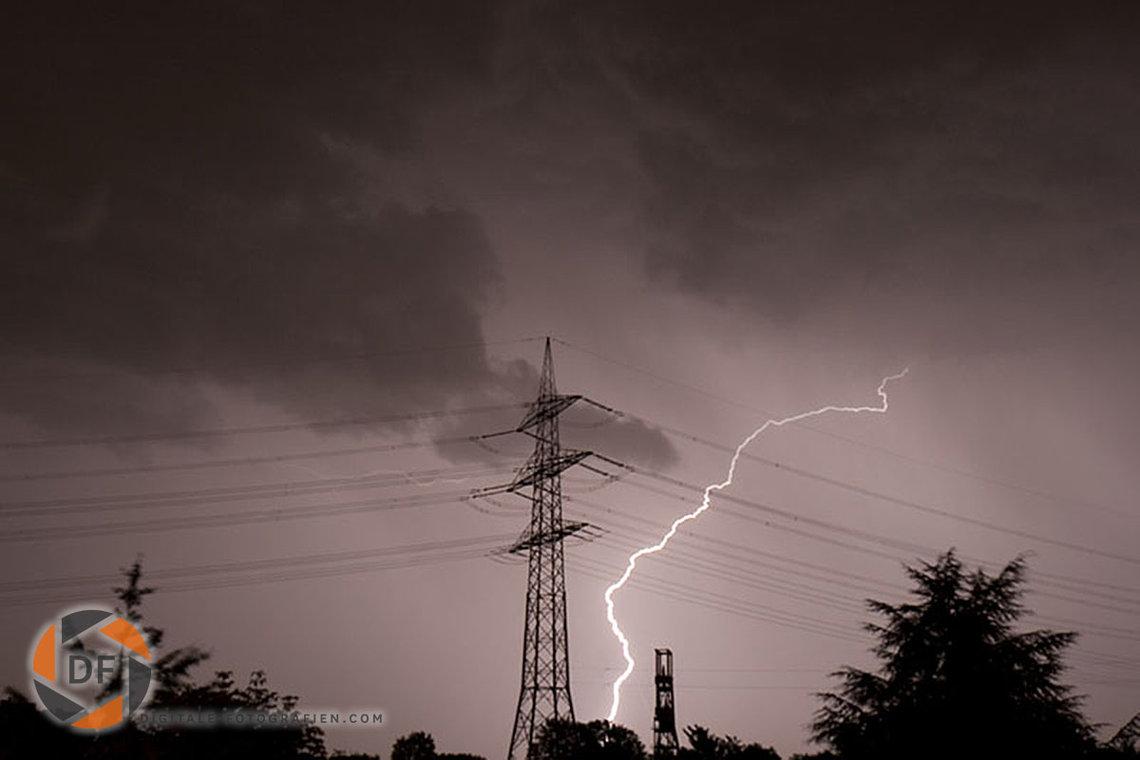Fotos von Gewittern  Blitzen