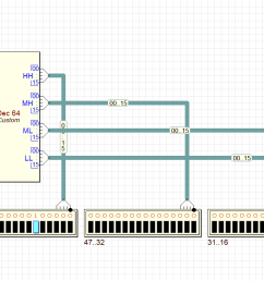 observe also the activity of the cbe internals simply with a click on the cbe component the cbe viewer will show animated the internal schematic  [ 1728 x 738 Pixel ]