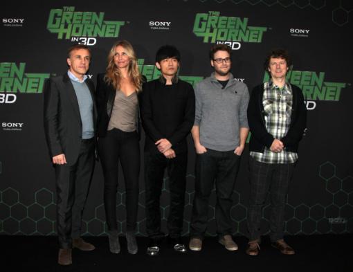 Fotocall THE GREEN HORNET im Hotel Adlon mit Cameron Diaz, Christoph Waltz, Jay Chou, Seth Rogen und Regisseur Michel Gondry