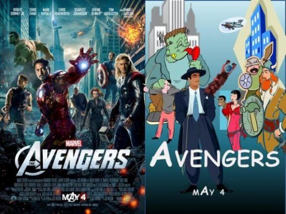 Filmposter in Clipart - Avengers
