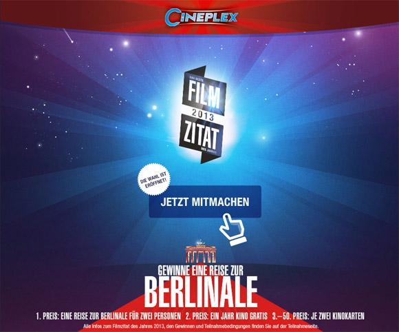 Cineplex- Filmzitat 2013
