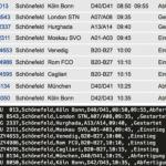 Mit einem Ruby-Skript wurden in diesem Beispiel alle Daten der abgehenden Flüge am 25. April um 9:45 vom Flughafen Schönefeld gescraped und in eine CSV-Datei gespeichert.