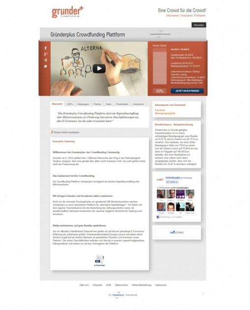 Crowdfunding Plattform