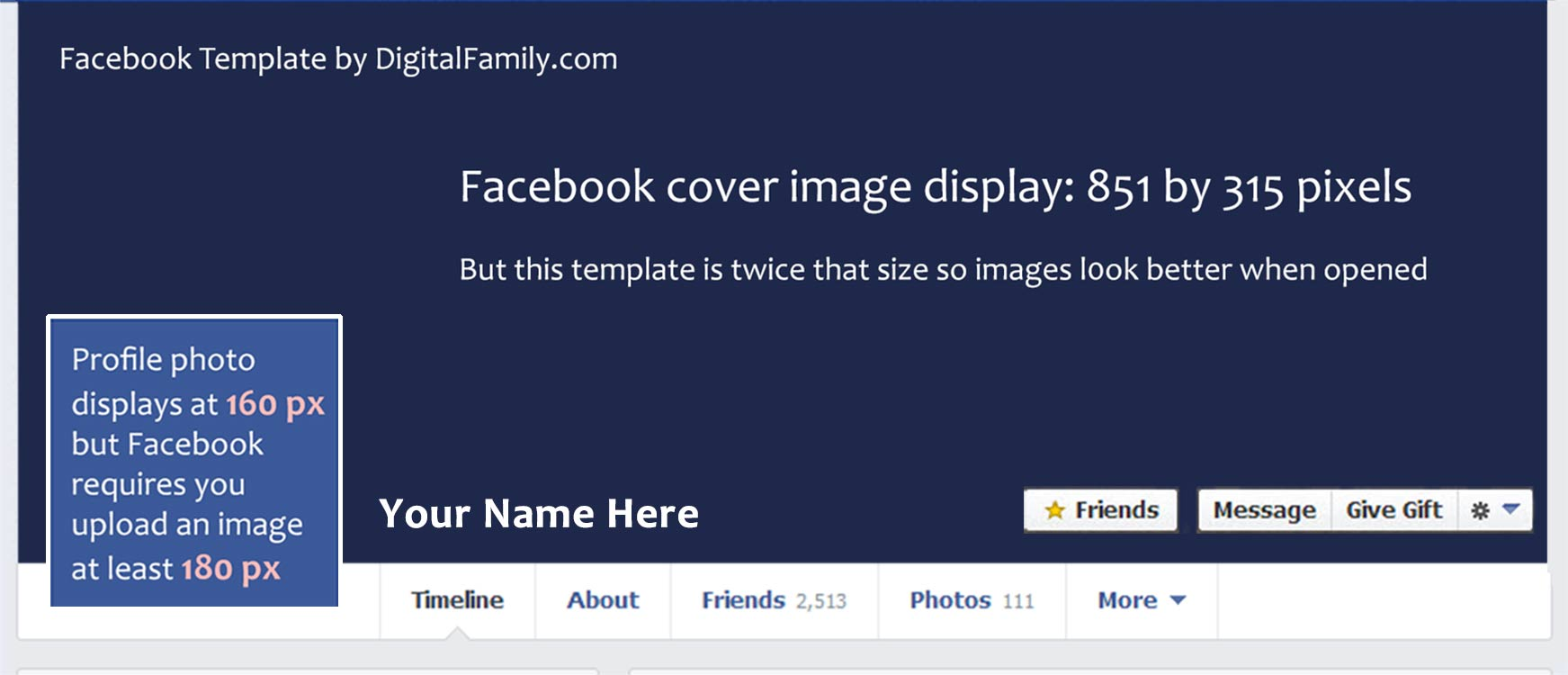 Facebook Timeline Cover Templates Free Facebook Cover Psd Template ...