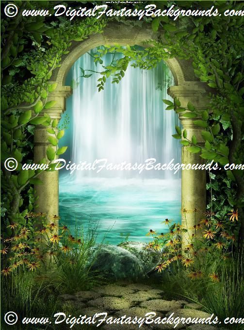Fantasy Garden Digital Backgrounds Volume 1 Digital Fantasy Backgrounds