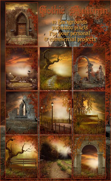 Fall And Autumn Wallpaper Gothic Autumn Backgrounds Digital Fantasy Backgrounds