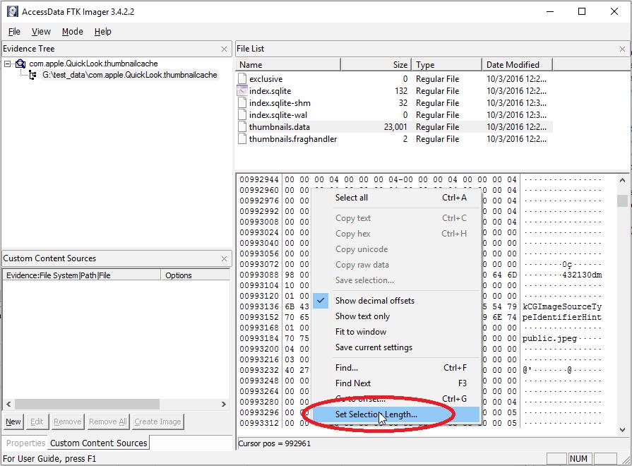 Quicklook thumbnails data parser | Digital Forensics | Computer