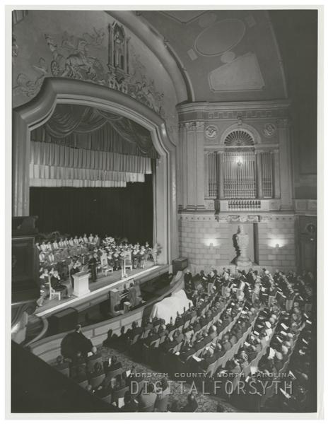 Interior of the Carolina Theatre, 1962.