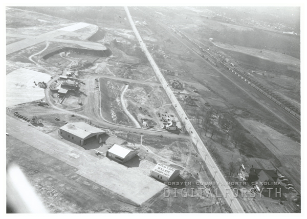 Aerial view of the Smith Reynolds Airport, 1942.