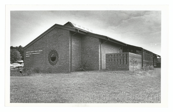 Rural Hall/Stanleyville Branch Library exterior, 1982.