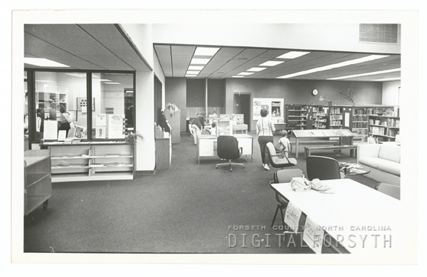 Rural Hall/Stanleyville Branch Library interior, 1982.